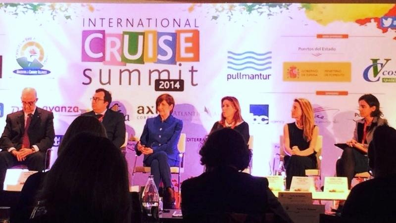 Mesa redonda en el International Cruise Summit 2014, esta mañana en Madrid