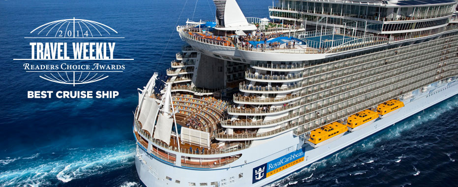 Vista del impresionante barco Allure of the Seas. Foto web Royal Caribbean International