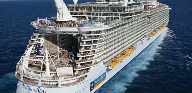 Vista del crucero Allure of the Seas de Royal Caribbean International. Foto web Royal Caribbean