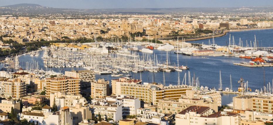 Vista del puerto de Palma de Mallorca. Foto web Royal Caribbean International