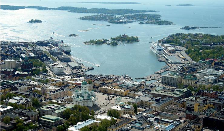 Vista de Helsinki, una de las escalas del Eurodam de HAL Cruises. Foto Visit Helsinki