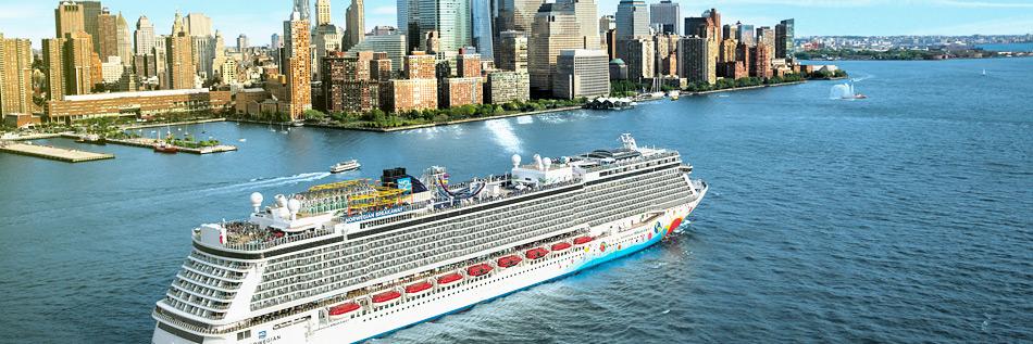 Vista del Norwegian Breakaway de NCL. Foto web Norwegian Cruise Line. Los 5 mejores cruceros de Norwegian Cruise Line en 2018