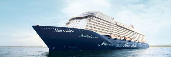 Vista del buque Mein Schiff 4 en alta mar