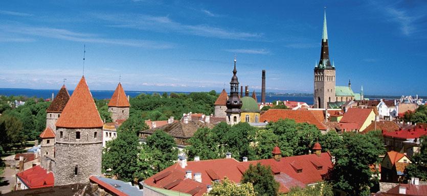 Vista de Tallin, escala en el Crucero por las Capitales Bálticas