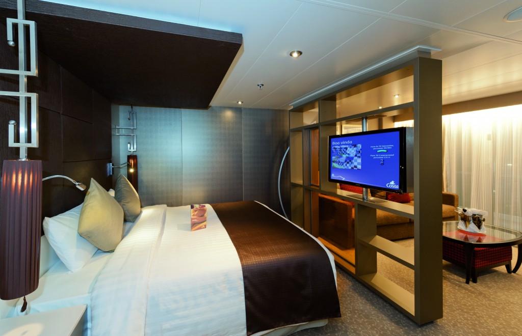 Vista de una suite con MyCosta Mobile