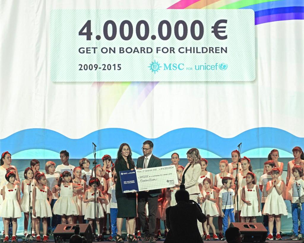 MSC Cruceros recauda 4 millones de euros para Unicef