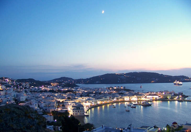Mikonos, escala de los cruceros por las islas griegas en 2016