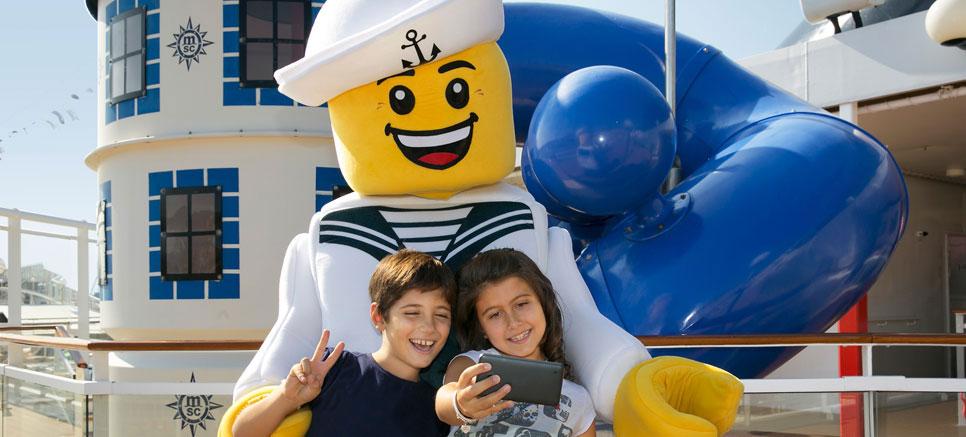 Los 5 mejores cruceros para hacer con niños Lego MSC