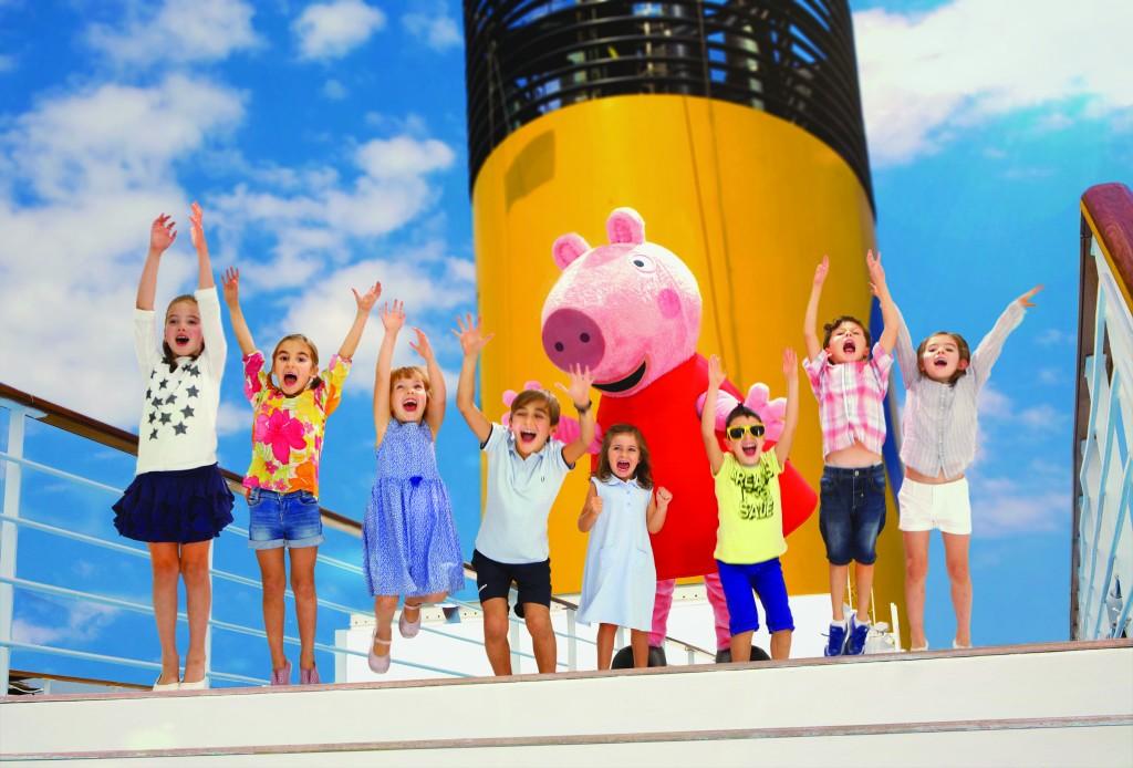 El crucero de Peppa Pig crucero con niños Costa Diadema