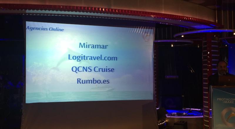 Gala Protagonisti del Mare 2017 Premio Miramar Cruises nominación mejor agencia online